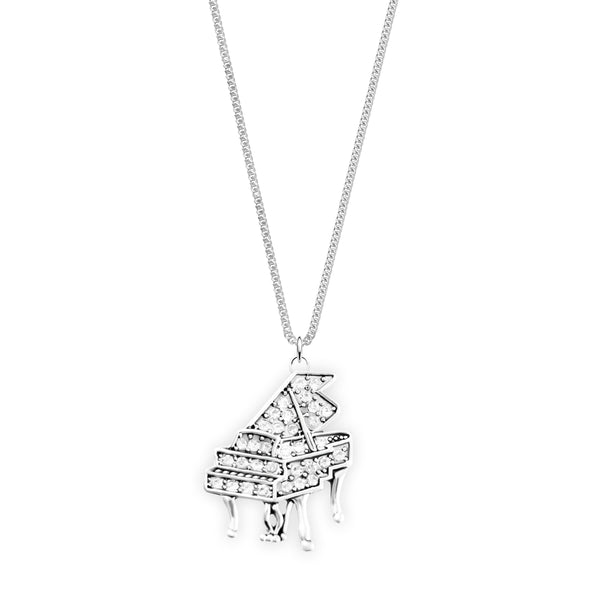 Crystal Grand Piano Necklace