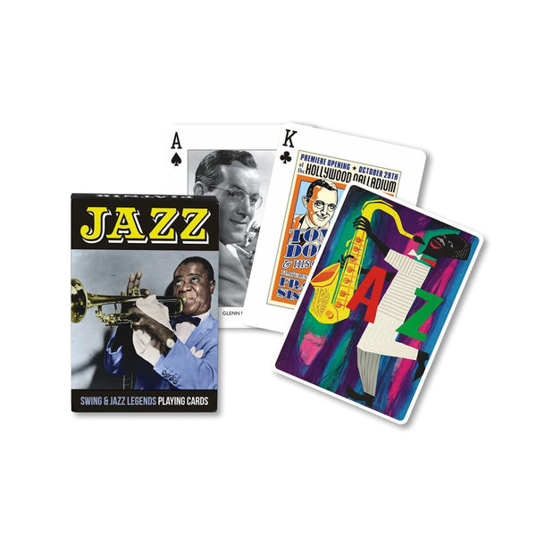 Swing and Jazz Legends Playing Cards