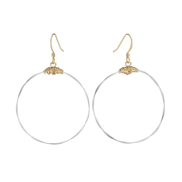Plain Hoop Earrings - Silver