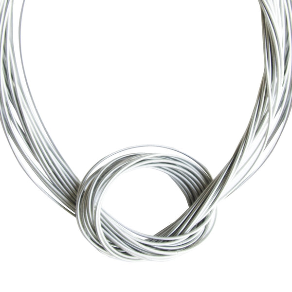 Piano Wire Knot Necklace - Silver