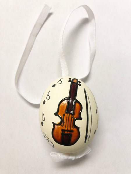 Violin Hand Painted Egg
