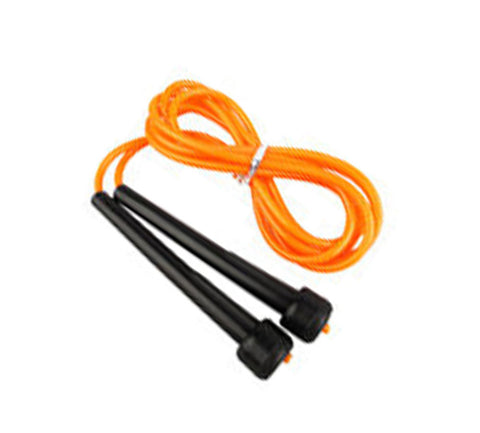 Orange/black skipping rope