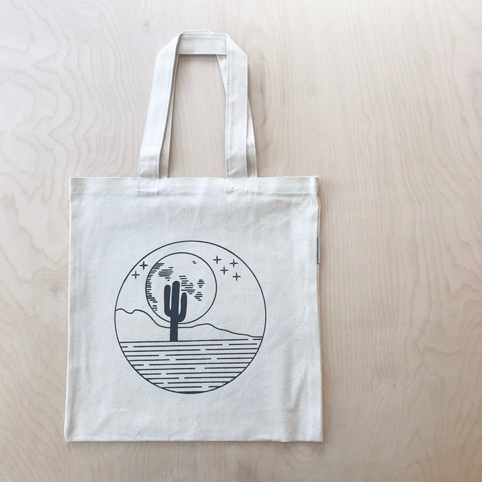 Desert Moon Organic Cotton Shopping Tote