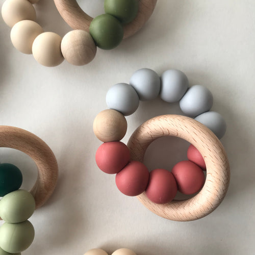 Modern Teether - Rose Grey