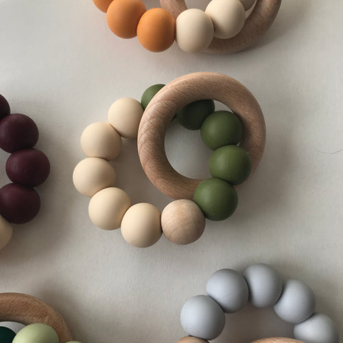 Modern Teether - Olive