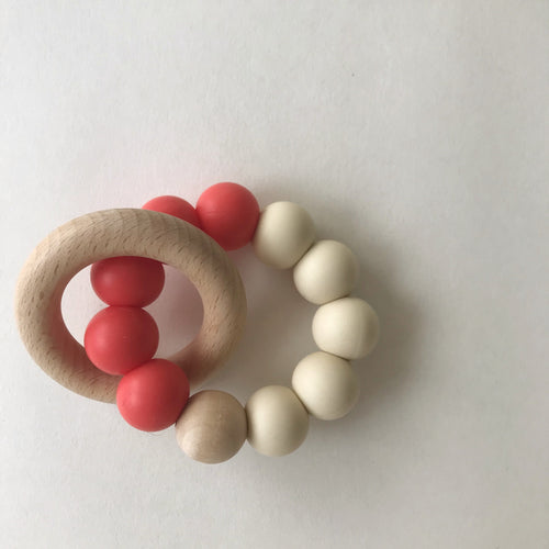 Modern Teether - Coral