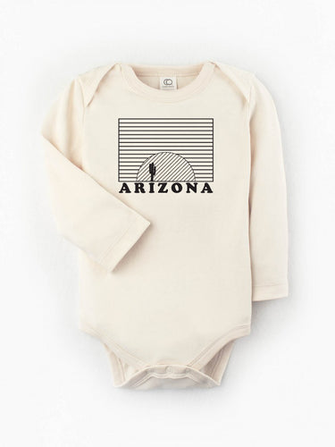Organic Arizona Sunset Long Sleeve Onesie