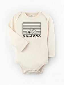 Organic Arizona Sunset Long Sleeve Bodysuit