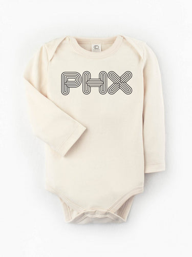 Organic PHX Deco Long Sleeve Bodysuit