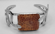 "Load image into Gallery viewer, ""Slithering Twins,"" Snakeskin Agate Bracelet"