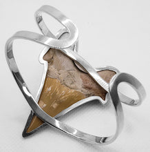 "Load image into Gallery viewer, ""Shark Attack,"" Megalodon Shark Tooth Bracelet"