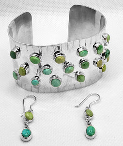 """Into the Valley of Turquoise,"" Bracelet & Earring Set"