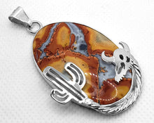 "Load image into Gallery viewer, ""Desert Dweller,"" Maligano Jasper Pendant in Sterling Silver"