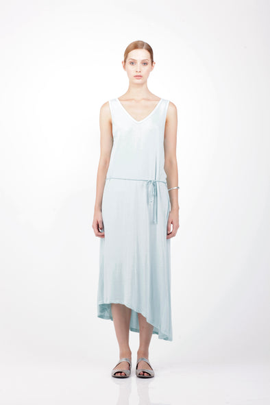 ORGANIC COTTON SUN DRESS - AQUA - Tluxe