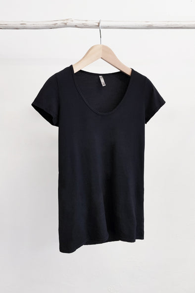 ORGANIC COTTON PERFECT TEE - BLACK - Tluxe