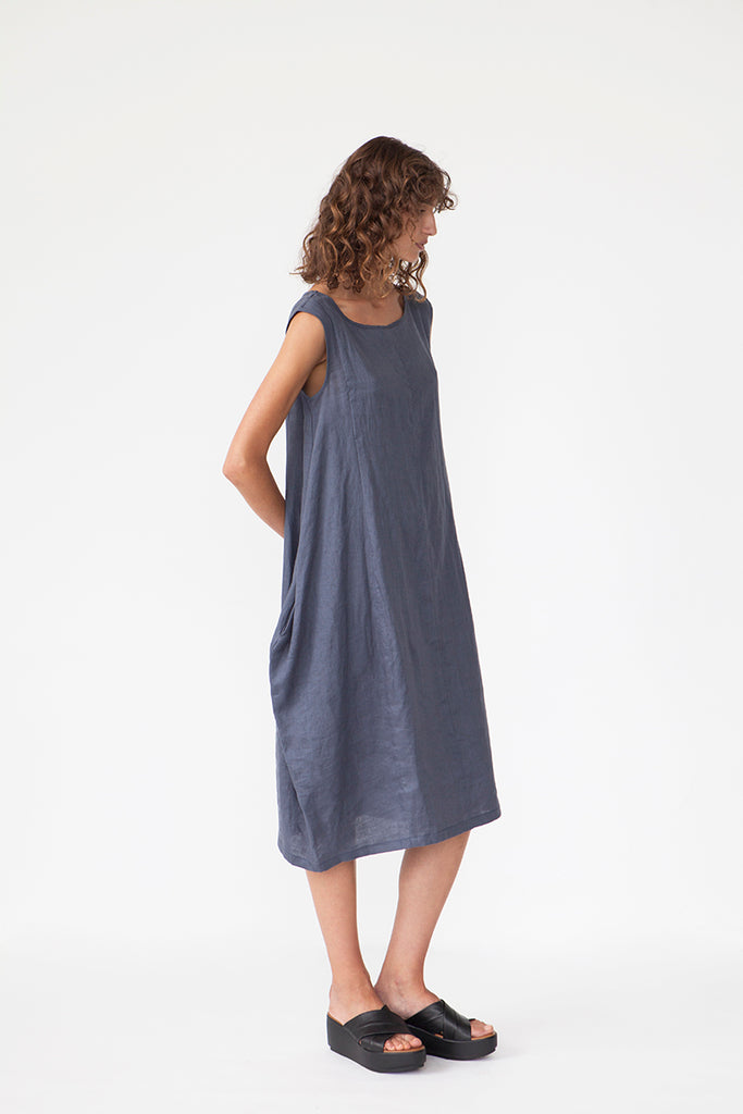 LINEN BUBBLE DRESS