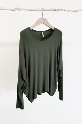 COCOON LONG SLEEVE TOP