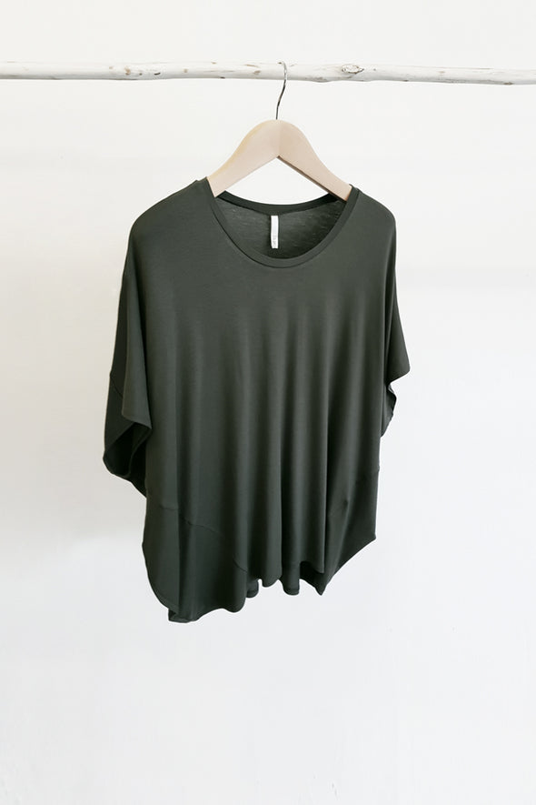 BAMBOO COCOON TOP - OLIVE - Tluxe