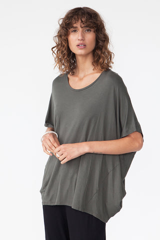 BAMBOO COCOON TOP - OLIVE