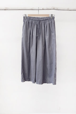 ORGANIC COTTON CULOTTE - STEEL