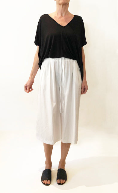 ORGANIC COTTON CULOTTE - WHITE - Tluxe