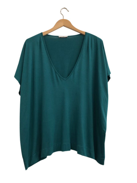 BAMBOO PONCHO TOP - EMERALD - Tluxe