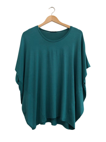 BAMBOO COCOON TOP - EMERALD