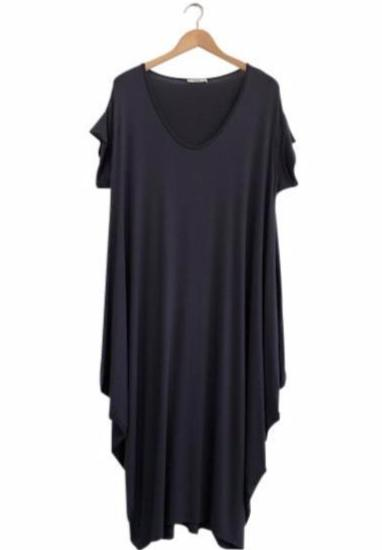 BAMBOO DIAMOND DRESS - CHARCOAL - Tluxe