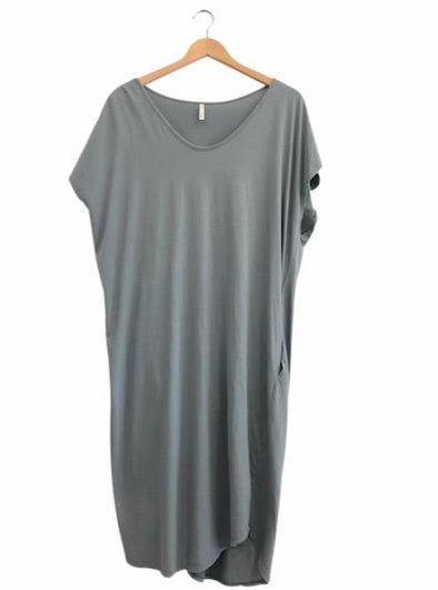 ORGANIC COTTON COCOON DRESS - THYME - Tluxe