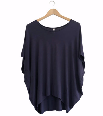 BAMBOO COCOON TOP - DEEP MIDNIGHT - Tluxe