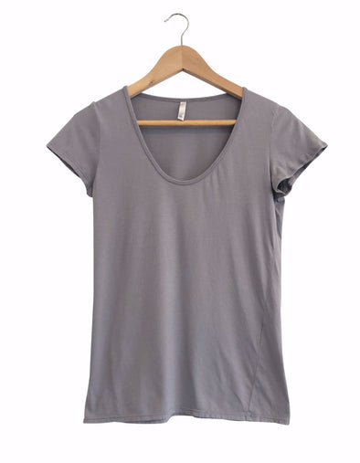 ORGANIC COTTON PERFECT TEE - STEEL GREY - Tluxe