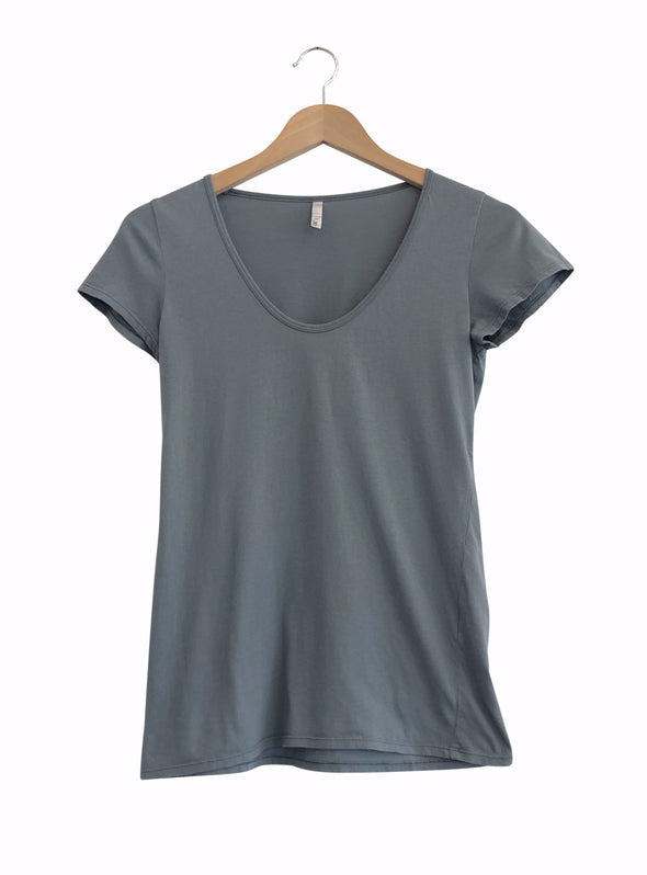 ORGANIC COTTON PERFECT TEE - THYME - Tluxe