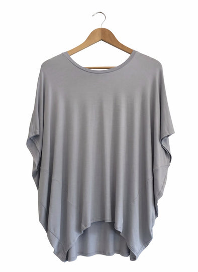 BAMBOO COCOON TOP - PEWTER - Tluxe