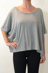 ORGANIC COTTON BOX TOP - GREY MARLE - Tluxe