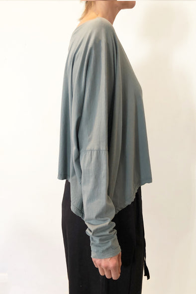 ORGANIC COTTON OVERSIZE TOP - THYME - Tluxe
