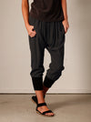 HAREEM CROP CUFF  PANTS - CHARCOAL - Tluxe