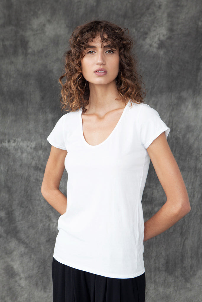 ORGANIC COTTON PERFECT TEE - WHITE