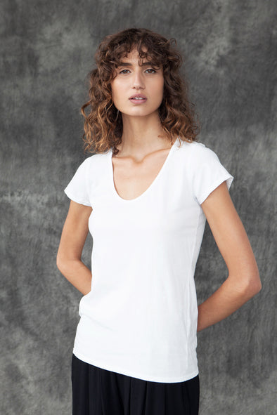 ORGANIC COTTON PERFECT TEE - WHITE - Tluxe