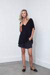 SILK EASY SHORT -BLACK - Tluxe