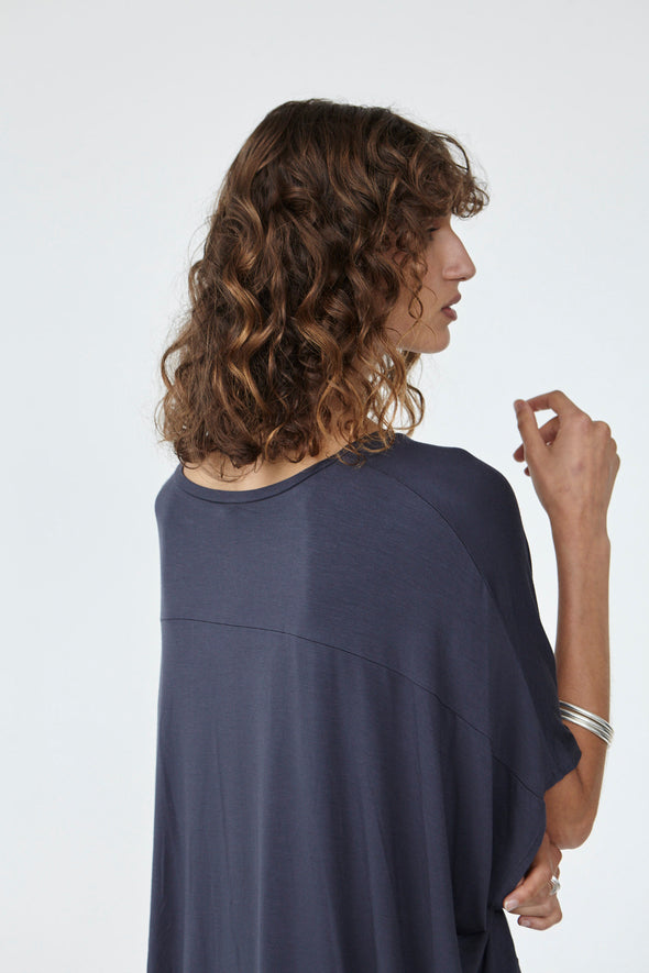 BAMBOO COCOON TOP - CHARCOAL - Tluxe