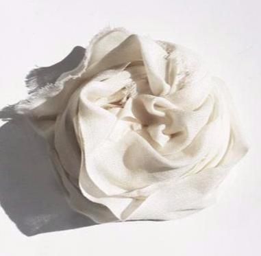 NATURAL MERINO SCARF - Tluxe
