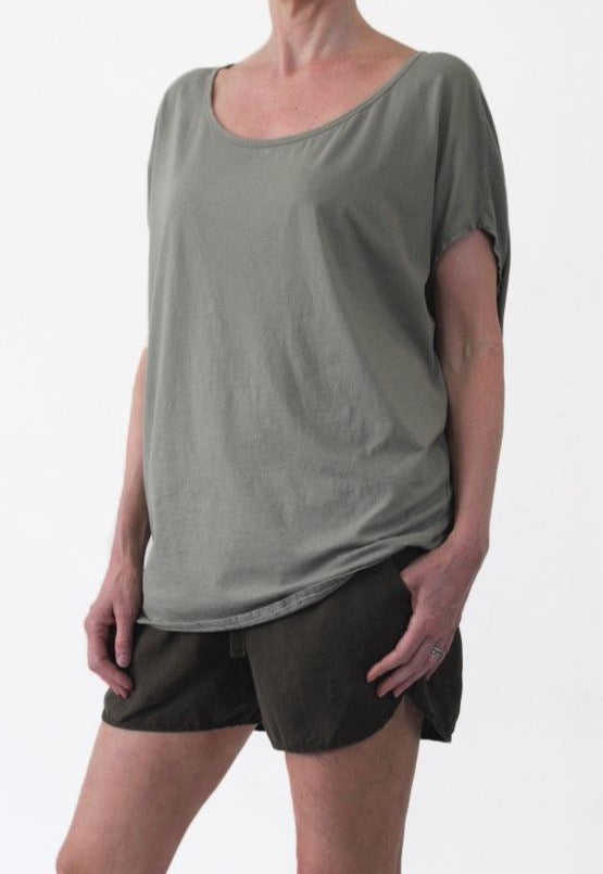 ORGANIC COTTON COCOON TOP - SAFARI - Tluxe
