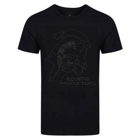 KOJIMA PRODUCTIONS Logo Black Rhinestuds Ladies T-Shirt