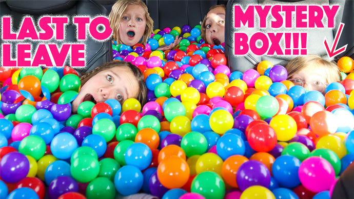 LAST TO LEAVE BALL PIT wins what's inside the MYSTERY BOX!!