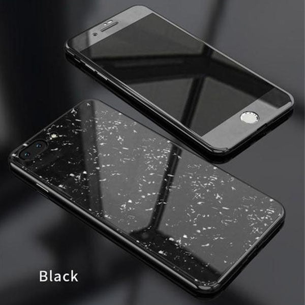 cc0510040ec 360° Full Protective Magnetic Glass Case For iPhone 7 / 8 / 7 Plus ...