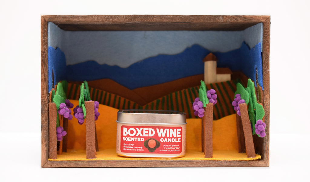 Boxed Wine-Scented Candle