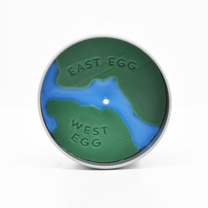 Great Gatsby Scented Candle  - Its surface shows a map of East Egg and West Egg