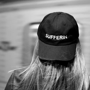 Suffferin Hat by Post Six on the TTC subway in Toronto Canada