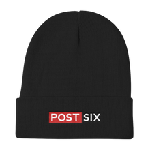Load image into Gallery viewer, Post Six Logo Black Beanie