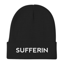 Load image into Gallery viewer, Sufferin Black Beanie